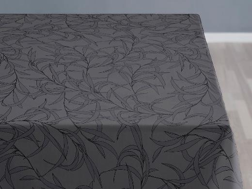 Södahl organic Breeze Damask Duk 140 x 220 cm Grey