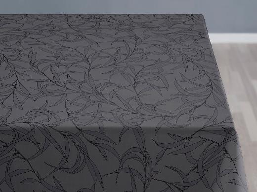 Södahl organic Breeze Damask Duk 140 x 370 cm Grey
