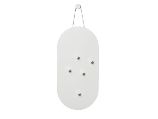 Zone A-bulletin board Opslagstavle m. 5 magneter 60 x 30 cm White