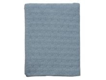 Södahl Deco knit Plaid 130 x 170 cm Linen blue